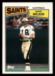 1987 Topps #273  Dave Wilson  Front Thumbnail