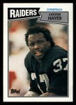 1987 Topps #223  Lester Hayes  Front Thumbnail