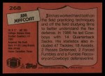 1987 Topps #268  Jim Jeffcoat  Back Thumbnail