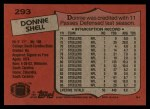 1987 Topps #293  Donnie Shell  Back Thumbnail