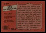 1987 Topps #247  Bob Baumhower  Back Thumbnail