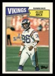 1987 Topps #201  Allen Rice  Front Thumbnail