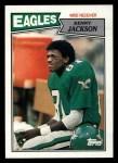 1987 Topps #299  Kenny Jackson  Front Thumbnail