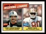 1987 Topps #228   -  Jerry Rice / Todd Christensen Receiving Leaders Front Thumbnail