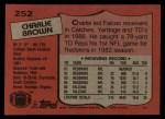 1987 Topps #252  Charlie Brown  Back Thumbnail