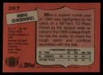1987 Topps #267  Mike Sherrard  Back Thumbnail