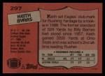 1987 Topps #297  Keith Byars  Back Thumbnail