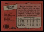 1987 Topps #240  Reggie Roby  Back Thumbnail