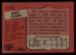 1987 Topps #258  Bret Clark  Back Thumbnail