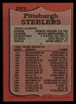 1987 Topps #283   Steelers Leaders Back Thumbnail