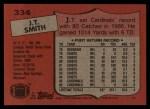1987 Topps #334  J.T.Smith  Back Thumbnail
