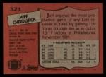 1987 Topps #321  Jeff Chadwick  Back Thumbnail