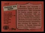 1987 Topps #337  Freddie Joe Nunn  Back Thumbnail