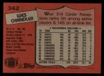 1987 Topps #342  Wes Chandler  Back Thumbnail