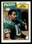 1987 Topps #354  James Lofton  Front Thumbnail