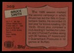 1987 Topps #369  Bruce Smith  Back Thumbnail
