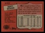 1987 Topps #377  Matt Bouza  Back Thumbnail