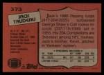 1987 Topps #373  Jack Trudeau  Back Thumbnail