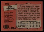 1987 Topps #388  Phil Freeman  Back Thumbnail
