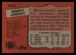 1987 Topps #351  Randy Wright  Back Thumbnail