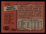 1987 Topps #376  Albert Bentley  Back Thumbnail
