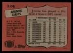 1987 Topps #324  Jimmie Giles  Back Thumbnail
