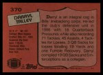 1987 Topps #370  Darryl Talley  Back Thumbnail