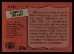 1987 Topps #370  Darryl Talley  Back Thumbnail