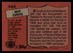 1987 Topps #392  Jeff Davis  Back Thumbnail
