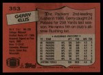 1987 Topps #353  Gerry Ellis  Back Thumbnail