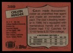 1987 Topps #389  Calvin Magee  Back Thumbnail