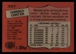 1987 Topps #387  Gerald Carter  Back Thumbnail