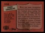 1987 Topps #368  Fred Smerlas  Back Thumbnail