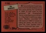 1987 Topps #336  Al 'Bubba' Baker  Back Thumbnail