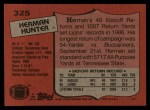1987 Topps #325  Herman Hunter  Back Thumbnail