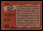 1987 Topps #316  Jesse Baker  Back Thumbnail