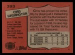 1987 Topps #393  Chris Washington  Back Thumbnail
