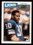 1987 Topps #319  James Jones  Front Thumbnail