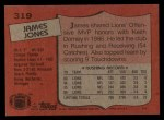 1987 Topps #319  James Jones  Back Thumbnail