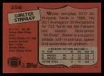 1987 Topps #356  Walter Stanley  Back Thumbnail