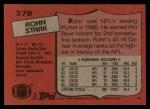 1987 Topps #379  Rohn Stark  Back Thumbnail