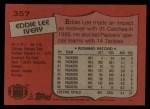 1987 Topps #357  Eddie Lee Ivery  Back Thumbnail
