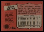1987 Topps #385  James Wilder  Back Thumbnail