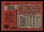 1987 Topps #385  James Wilder  Back Thumbnail