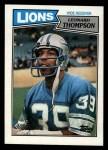 1987 Topps #322  Leonard Thompson  Front Thumbnail