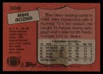 1987 Topps #308  Mike Rozier  Back Thumbnail