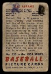 1951 Bowman #152  Cal Abrams  Back Thumbnail
