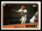 1988 Topps #85   Browns Leaders Front Thumbnail