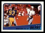 1988 Topps #102   Oilers Leaders Front Thumbnail