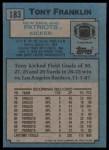 1988 Topps #183  Tony Franklin  Back Thumbnail